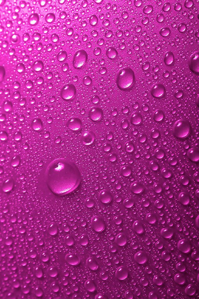 Purple Raindrops iPhone Wallpaper HD. Phone background