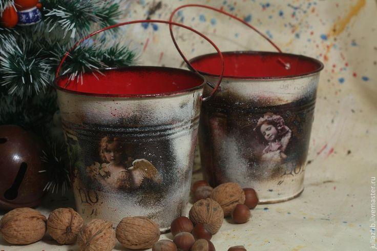 Купить Рождество при свечах (свеча в кашпо) - свеча, рождество, винтаж, новогодний подарок