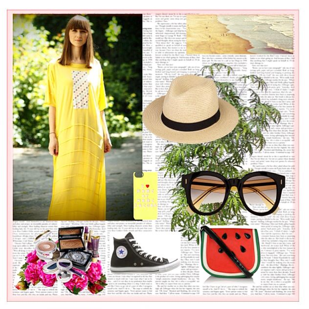 Jersey Dress, Yellow Streetsyle, Contemporary Design, Handmade and unique embroidery, Summer Mood