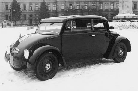 Prototype Skoda à moteur arrière des années 1932-33.