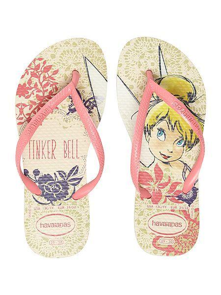 Girls Tinkerbell flip flop