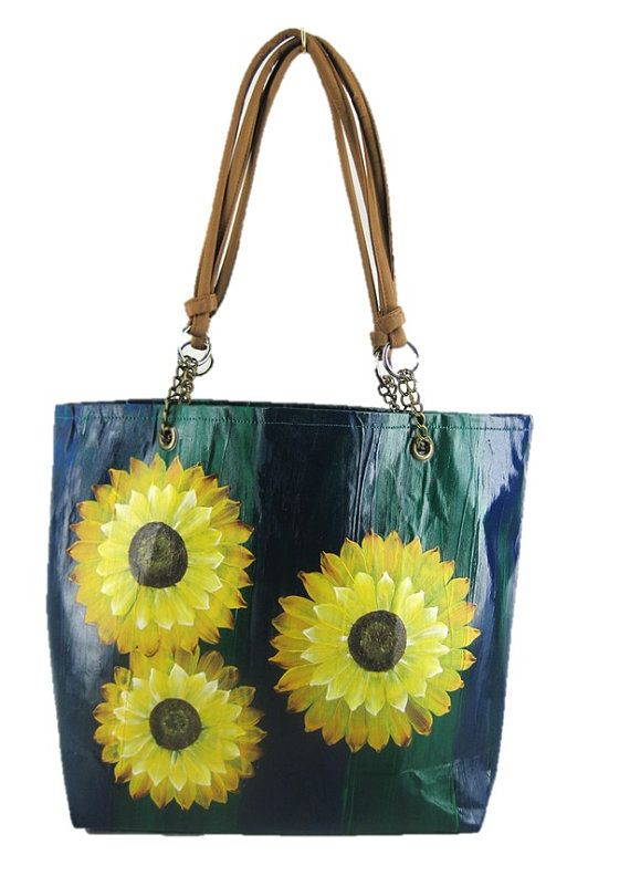 Sunny Sunflowers: Designer Handcrafted Hand Painted Woman's Fashion by ArachneStyle, $120.00
