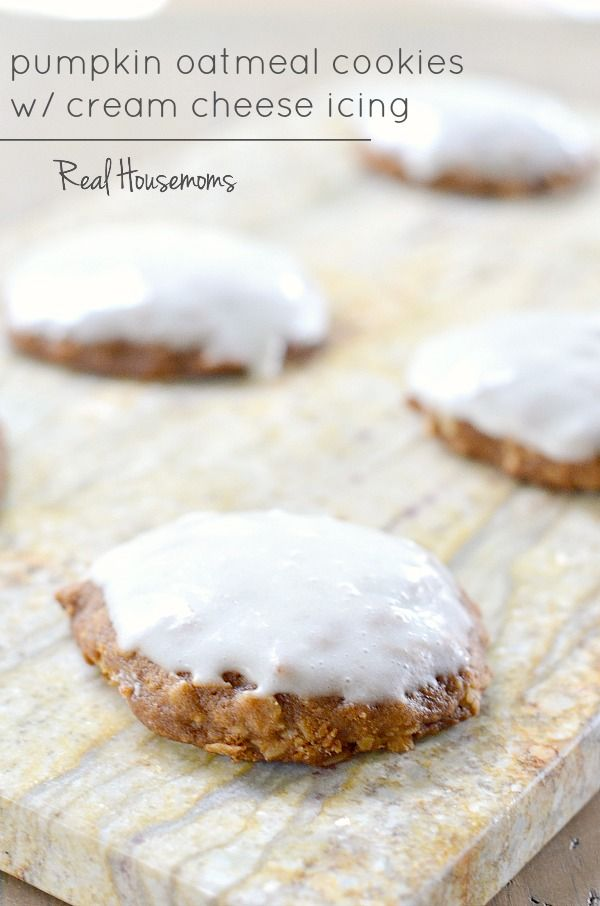 ... oatmeal cookies, Pumpkin oatmeal and Cream cheese icing on Pinterest