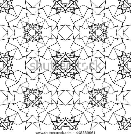 Vector pattern with arabic geometric ornament. Seamless repeating texture.