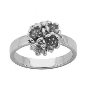 Karen Walker Silver Flower Ball Ring - SILVERMOON - New Zealand Silver & Gold Jewellery - Charms, Necklaces, Bracelets, Cufflinks, Bangles, Earrings, Pendants, Rings, Mens & Womens Watches - Never go naked