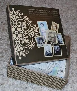 REPIN :): Memories Boxes, Families Reunions Activities, Crafts Boxes, Crafts Ideas, Heritage Scrapbook, Heritage Maker, Gifts Ideas, Families History, Reunions Ideas