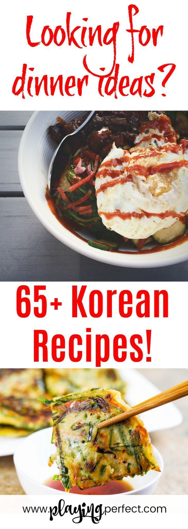 Korean food for homecooked meals! Korean dinner ideas with Korean instant pot recipes, Korean authentic recipes, vegetarian Korean food, Korean side dishes, and Korean desserts! FREE Meal Planner printable pack too! | playingperfect.com | #koreanfood #korean #koreanmeal #yum #food #playingperfect #progressnotperfection #dinner #recipe #foodie #recipes #dinnerideas #meals #koreanrecipes