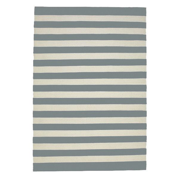 LET LIV Cotton Striped Floor Rug in Grey & Milk