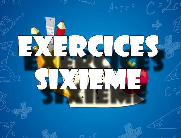 Nombres décimaux : exercices de maths corrigés en sixième ...