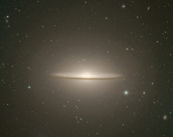 A Month in space: The Subaru Telescope captured this image of the Sombrero Galaxy