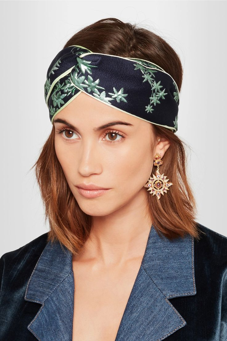 Gucci   Floral-jacquard headband   NET-A-PORTER.COM