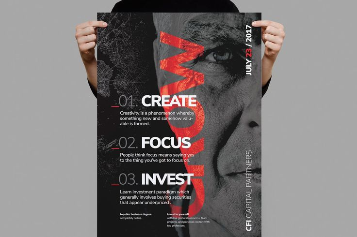 Grow Corporate Business Poster Template PSD A3