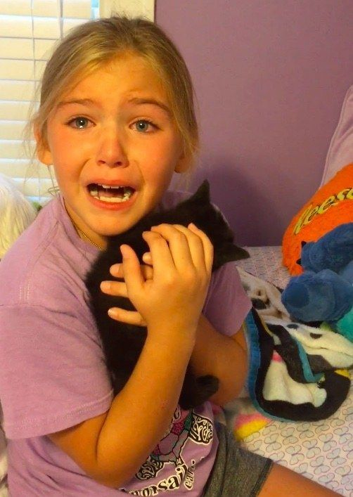 A nine-year-old girl was very sad since she lost her best friend last year. She couldn't believe it when she found home a little black kitten that looked like amini version of her best frien…