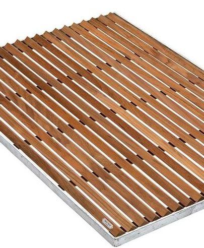 Teak And Stainless Steel Doormat At Remodelista Badkamer