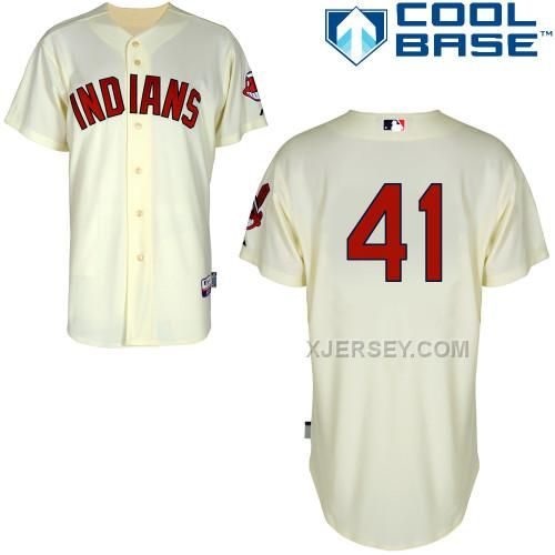 http://www.xjersey.com/indians-41-santana-cream-cool-base-jerseys.html INDIANS 41 SANTANA CREAM COOL BASE JERSEYS Only $43.00 , Free Shipping!