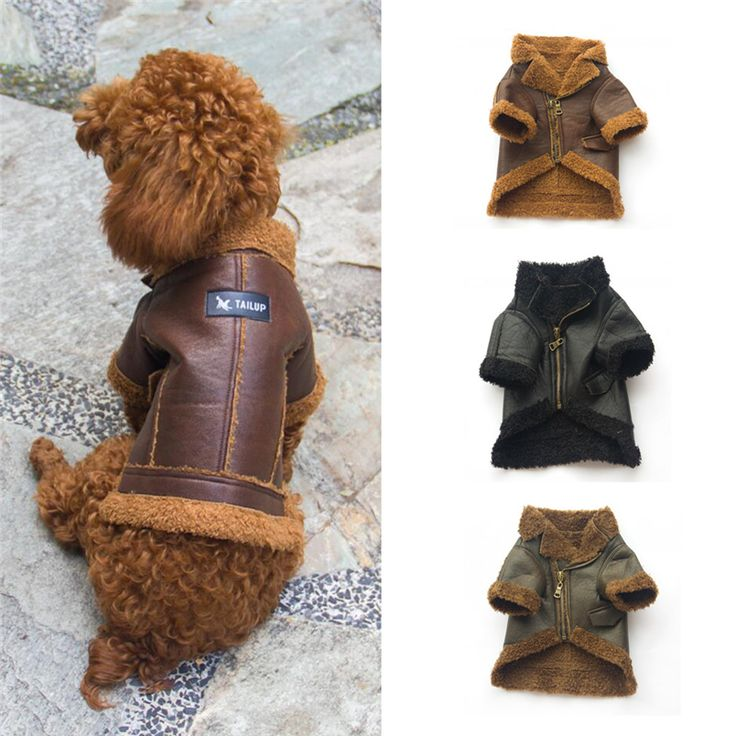 TAILUP clothes dog Pet Dog Fashion Leather Zipper Jacket Coat cheap dog clothes for small dogs*30 GIFT 2017 Drop shipping #Affiliate