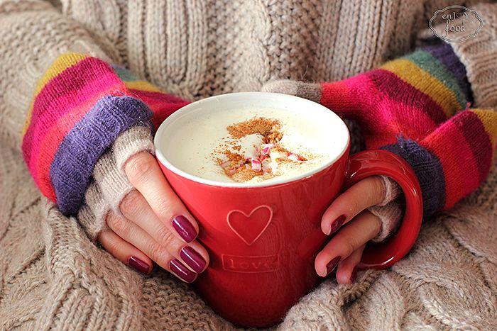 Coconut white hot chocolate - Ciocolata calda din ciocolata alba si cocos
