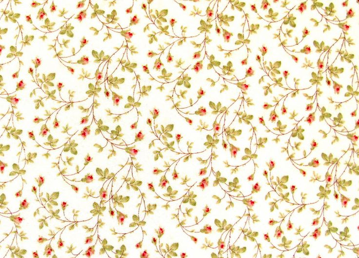 Stoff Blumen - Blumenstoff creme rot - ein Designerstück von HE-RO bei DaWanda