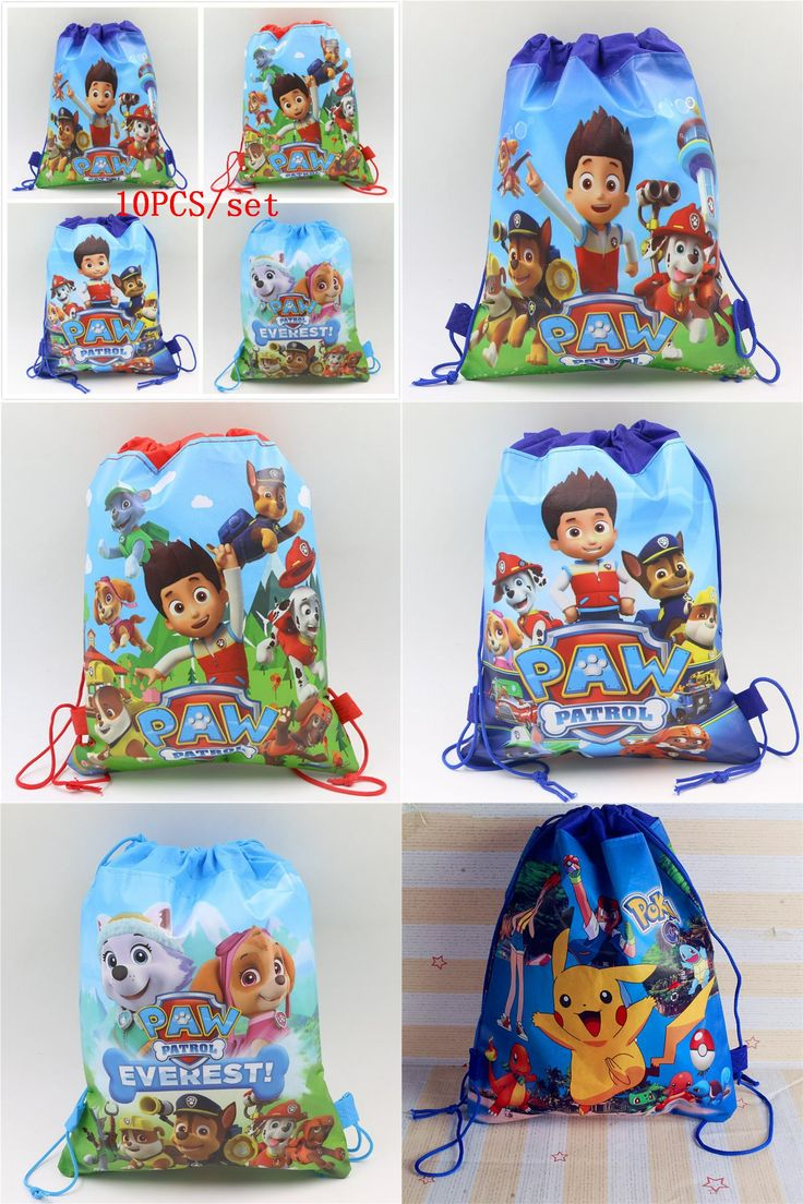 [Visit to Buy] 10pcs/lot Drawstring Bags PAW Patrol Theme Non-Woven Fabric Drawstring Backpack Party Decoration Birthday Supplies For Kids #Advertisement