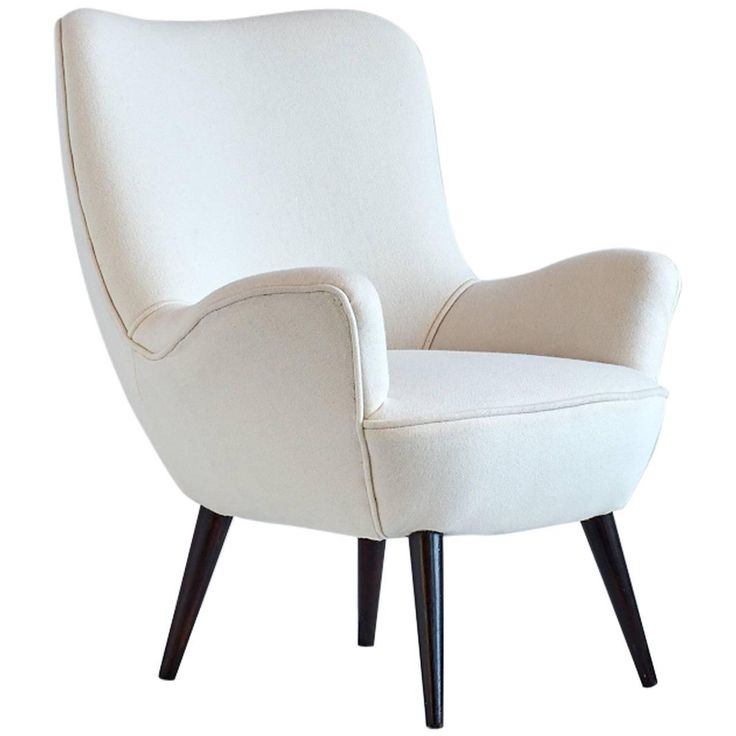 Silvio Cavatorta Armchair Newly Upholstered in Kvadrat Wool