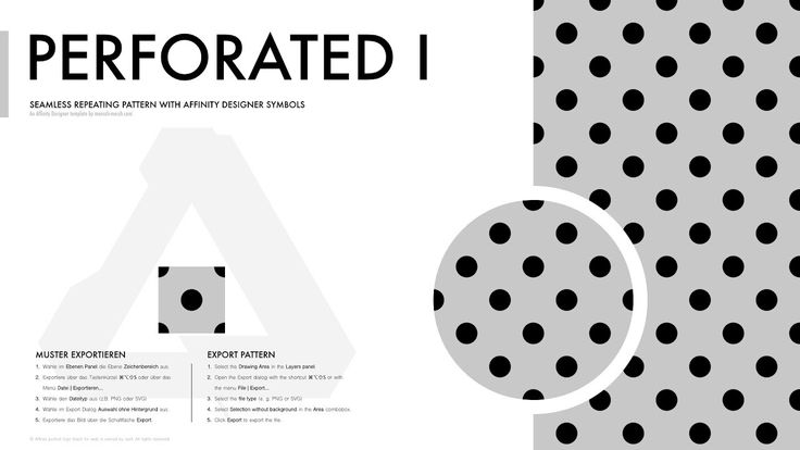 Affinity Designer Pattern - Perforiert I (Polka dotted | Lochblech) with the #AffinityDesignerPatternTemplate  #AffinityDesigner  https://mensch-mesch.com/download/download-affinity-designer-pattern-template/