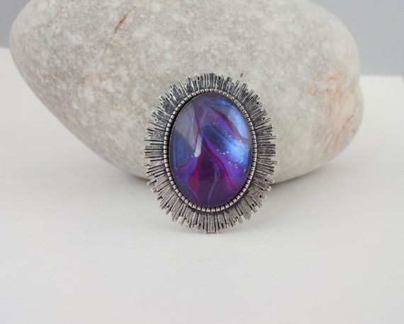 Purple Glitter Brooch by ShineOnShopUK on Etsy