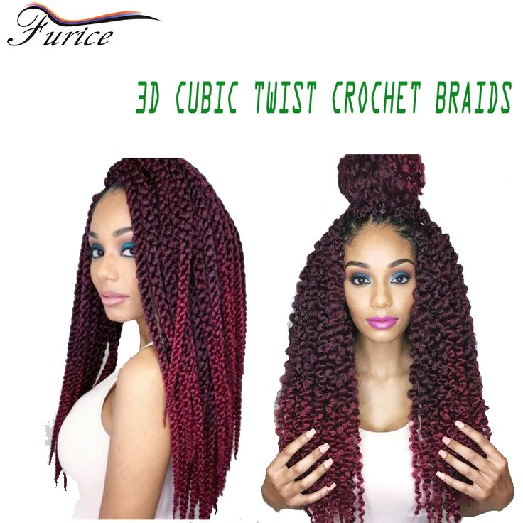 Aliexpress.com : Buy Crochet Twist Hair Extensions 3D Cubic Twist Curly Braiding Hair Kinky  Hunman Hair Bundles Havana Twist 3d Cubic Crochet Hair from Reliable hair color fine hair suppliers on furice hair Store