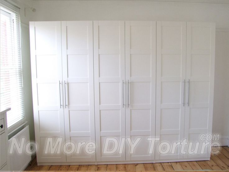 Ikea Pax wardrobes used as built-in closets.-just frame with ...