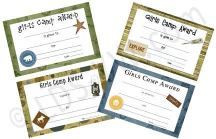 Lds young women camp certificates reanimators