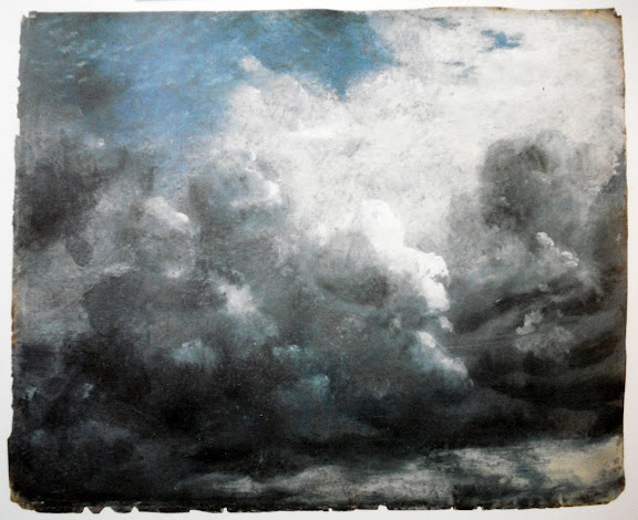monochromatic blue sky by John Constable