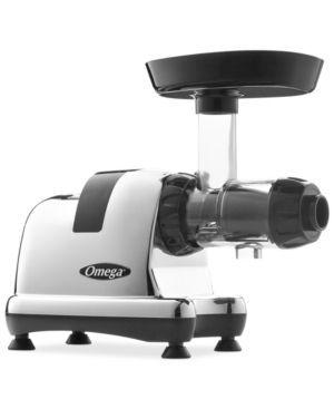 Omega 8008 Chrome Slow Speed Nutrition Center Masticating Juicer - Silver