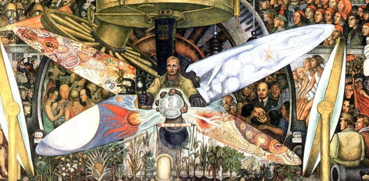 59 best unam images on pinterest pumas sports and soccer for Diego rivera mural at rockefeller center