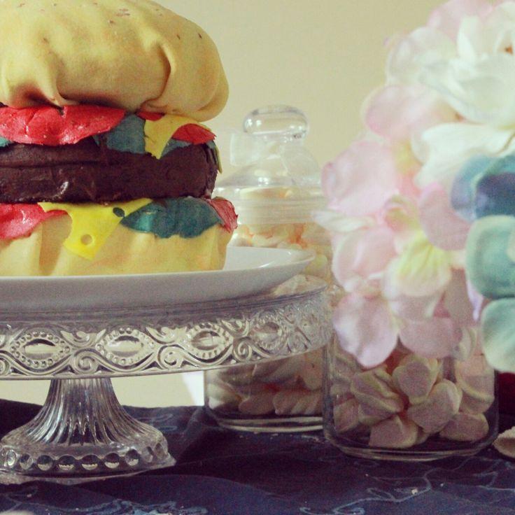 Торт Бургер,  Чизбургер. Burger cake=))