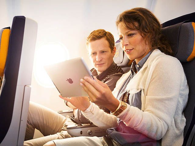 Lufthansa et Austrian testent le wifi en moyen-courrier