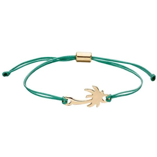 LC Lauren Conrad Palm Tree Green Cord Bracelet (8 PAB) ❤ liked on Polyvore featuring jewelry, bracelets, green, nickel free jewelry, adjustable rope bracelet, rope bracelet, lc lauren conrad and palm jewelry