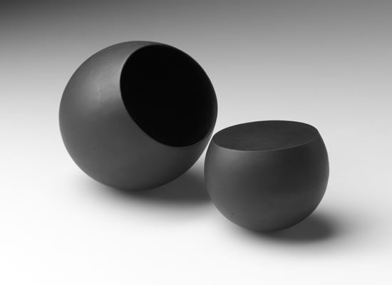 Belinda Winkler, Counterbalance, Bronze, Composition of 2 (one solid cast, one hollow lost wax cast), Approximate dimensions 240W x 120H x 120D mm, 2011, Photography by Peter Whyte