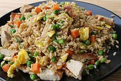Great easy fried rice receipe PLUS many other easy Chinese dishes on this page!  Can't wait to try them all!  Might just pan fry instead of deep fry though :)