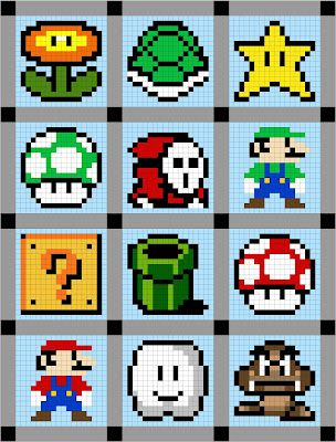 Super Mario Brothers Quilt Along - yes, i will be doing this for Grant...I mean, Tucker.