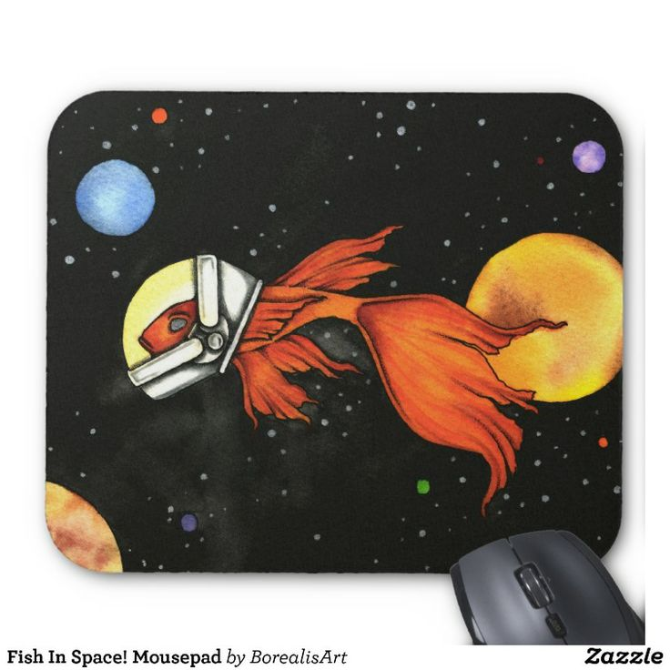 Fish In Space! Mousepad