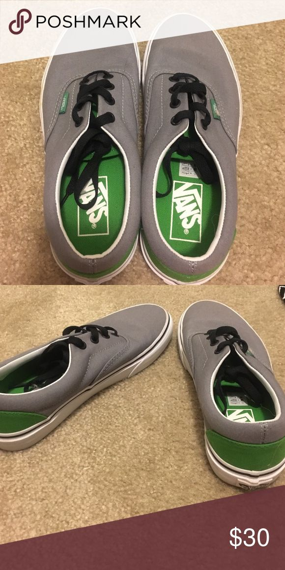 Gray and green Vans Skate shoes BNWOT gray and green Vans Vans Shoes Athletic Shoes