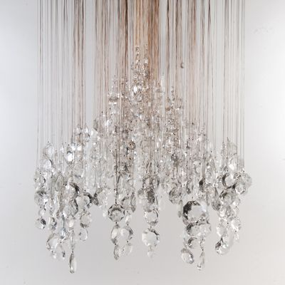 Eva Menz Cascade Lounge Contemporary Chandelier