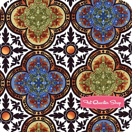Avalon Multi Quatrefoil Yardage  SKU# 7LCC1   Avalon by Jason Yenter for In the Beginning Fabrics