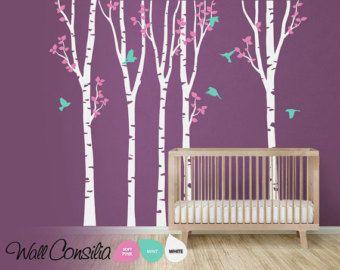 Baum Wandtattoo Kinderzimmer Wanddekoration Baum von WallConsilia