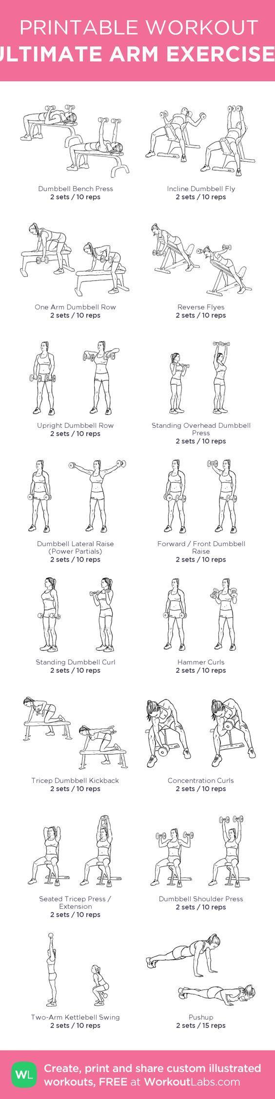 ULTIMATE ARM EXERCISES: my custom printable workout by @WorkoutLabs #workoutlabs #customworkout: