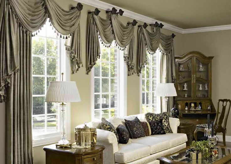 Puertas Y Ventanas Ideas De Cortinas Para Ventanas De Arco Grande Ideas De Tratamiento D Window Treatments Living Room Fancy Living Rooms Curtains Living Room
