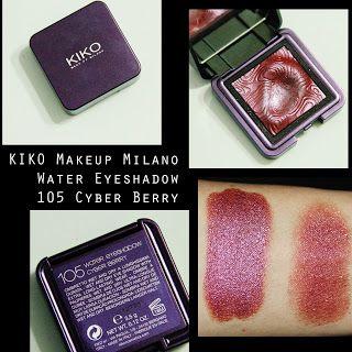 MichelaIsMyName: KIKO Makeup Milano Water Eyeshadow 105 Cyber Berry...