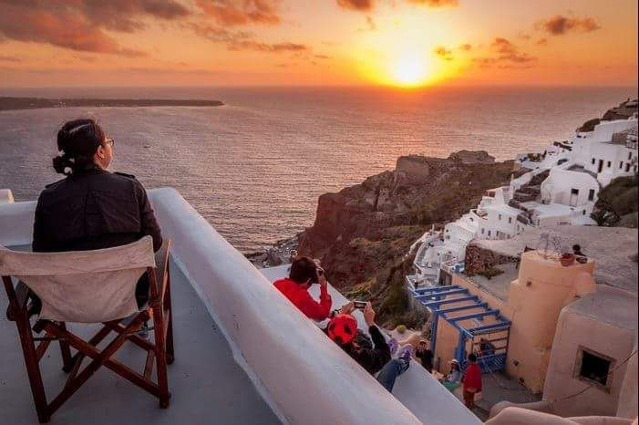 The sunset from Oia