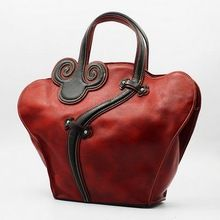 Free shipping/ women large capacity 2015 luxury vintage genuine leather handbag for women