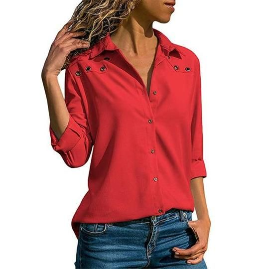 Lossky White Blouse Women Solid Autumn Office Womens Tops And Blouses Plusrricdress