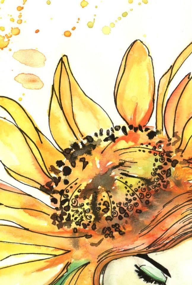Girasol . Metamorfosis Femenina / Ilustration By Eins Artist